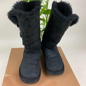 UGG Australia Boots- Bailey Button-Black- Size 6.